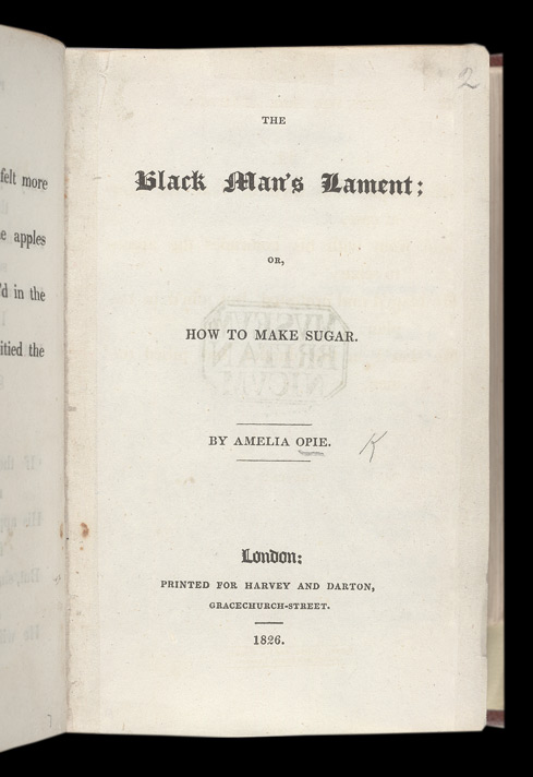 The Black Man's Lament -Title Page